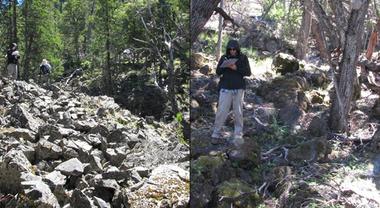 El equipo de geólogos trabajando en el lugar