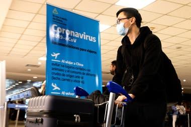 Los controles en el Aeropuerto Internacional de Ezeiza por el brote de coronavirus