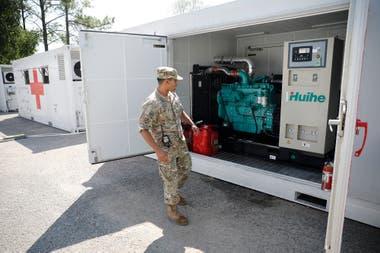 El hospital tiene sus propios generadores de electricidad