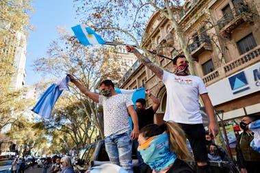 El banderazo del 19S por las calles de la ciudad de Mendoza