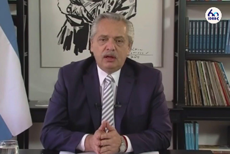 """Alberto Fernández, en el coloquio de IDEA: """"La Argentina estaba en terapia intensiva antes del coronavirus"""""""