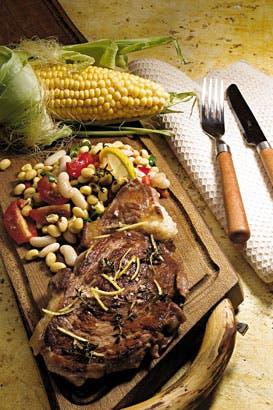 Receta de Bife a la plancha con ensalada