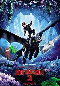 Afiche de Como entrenar a tu dragón 3