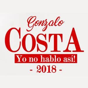 Afiche de Gonzalo Costa: Yo no hablo así 2018